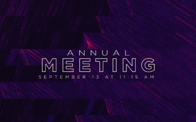 Annual Meeting: Sunday, September 13